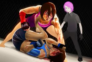 Mikasa Vs Korra  commisioned by  GoGoat43 by ziqman