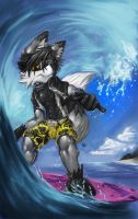 Surfing Shia. Commission by GatoDelCielo