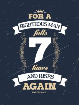 Proverbs 24:16 - Poster by mostpato