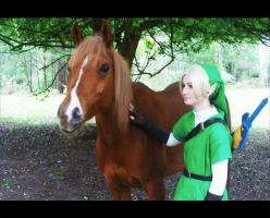 Link and Epona by HayleyElise