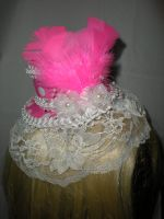 Pink and White Mini Top Hat by Oriana-X-Myst