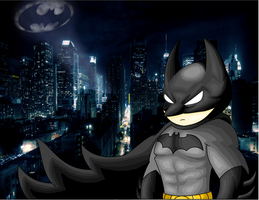 Batman in Gotham City by RockBatKnight