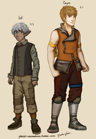 Leif and Cayne - THEY HAVE PANTS!! by ReneeViolet