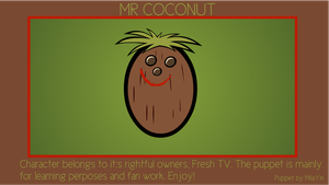 Mr Coconut Puppet by MilaYin