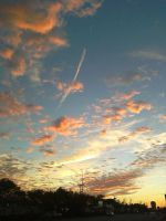 bus stop sunset 2. by xyr