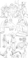 Hannibal sketches 28 by FuriarossaAndMimma