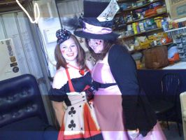 Queen of Hearts and Mad Hatter by the-wire