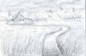 Drawing course exercise two - Landscape by oboeteru