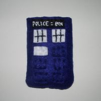 TARDIS Cell Phone Cozy by kiddomerriweather