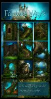 Fantasy Ways backgrounds by moonchild-ljilja