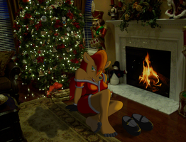 Vixen fireplace full by SorcererLance
