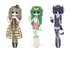 Adopt Set 12 - Anthros - CLOSED by rosie-wosie
