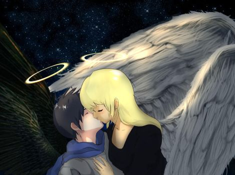 Angelic Kiss by AngelWing314