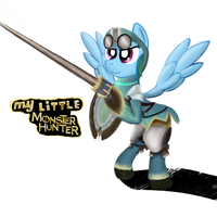 Monster Hunter Rainbow Dash by lKittyTaill