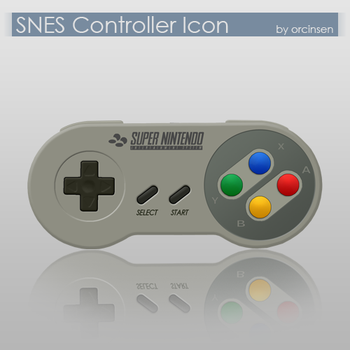 SNES Controller Icon by orcinsen