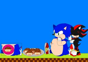 fat sonic siting andeatchilido by icethehedgehog11