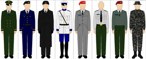 Military Uniforms of the Republic of Quebec by kyuzoaoi