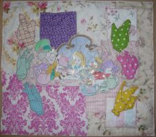 Alice In Wonderland Tea Party Textile by Count-Your-Rainbows