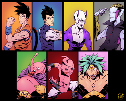 Dbz Redesign Profiles by AttackVII