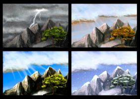 Color Study - Seasons of the Year by DethSider
