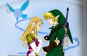 Link and Zelda just color by MaximilianMaxwell