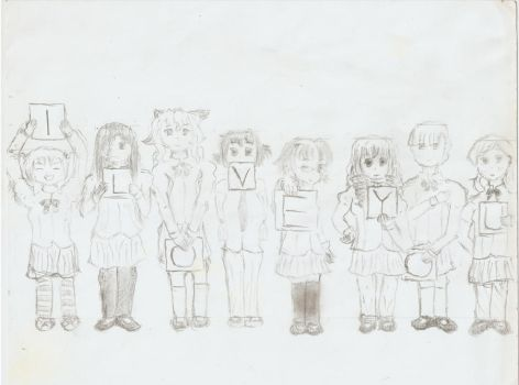Katawa Shoujo - I LOVE YOU pencil ver. by Rubomon