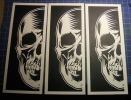 Skull prints, after cutting by kray01
