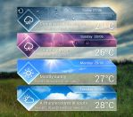 Glass Style Forecast for xwidget by jimking