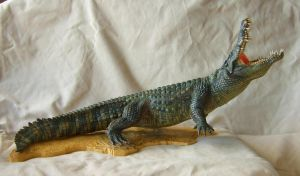 Nile Crocodile - Paint up of my original sculpture by revenant-99