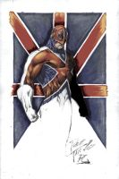 Captain Britain Coloured by NineteenPSG