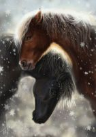 Iceland Horses by Fable-Art