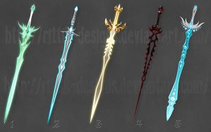 Swords adopts 3 (CLOSED) by Rittik-Designs