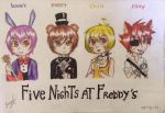 Five nights at Freddy's [anime version] by Jany-chan17