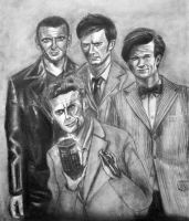 The Ninth, Tenth, Eleventh and Twelfth Doctors by AleksVarts
