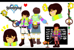 KH x Undertale: Frisk Design Sheet by MadAsThyHatter