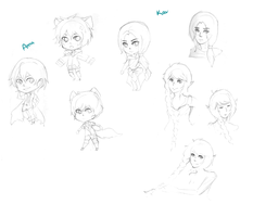 Pencil Sketches WIP by Pikerth