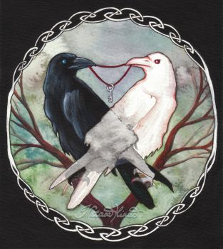 Huginn and Muninn by NatasaIlincic