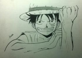 Monkey D. Luffy (Straw Hat Luffy) by hanitk