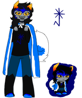 Homestuck OC: Canity Lupola by AquaArtist532