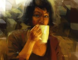 in_Cafe by gousman