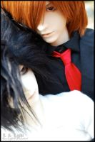 BJD: Light and Lawliet by Maru-Light