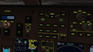 NOPE buttons B777 cockpit mod (dusk backlights) by HYPPthe