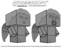 Cubeecraft - Weeping Angels by CyberDrone