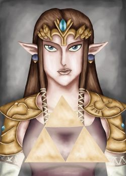 Zelda and the Triforce by comicalclare