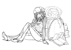 Commission- Banner Lineart by Miha-Hime