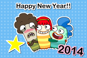 HAPPY NEW YEAR 2014 -fish hooks ver- by OysteIce