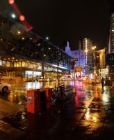 New York in the rain by Difys