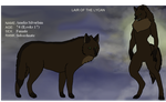 Lair of the Lycans Amelia's Reference by xRogueKimbitx