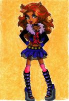 Clawdeen Wolf by Eviethelion