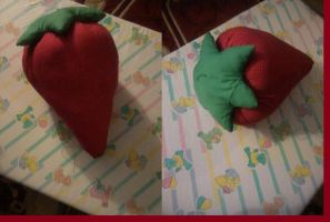Large Strawberry Plush by mistress-daydream